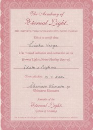 Eternal Light Certificate :: Pluto Neptune