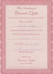 Eternal Light Certificate :: Uranus