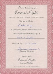 Eternal Light Certificate :: Venus Jupiter