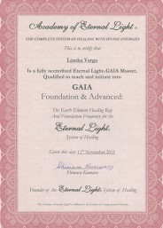 Eternal Light Certificate :: Gaia Master