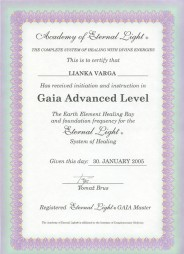 Eternal Light Certificate :: Gaia Advanced