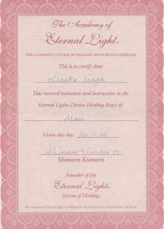 Eternal Light Certificate :: Mars