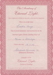 Eternal Light Certificate :: Chiron Sterylion