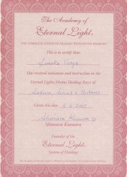 Eternal Light Certificate :: Saturn Sirius Antares